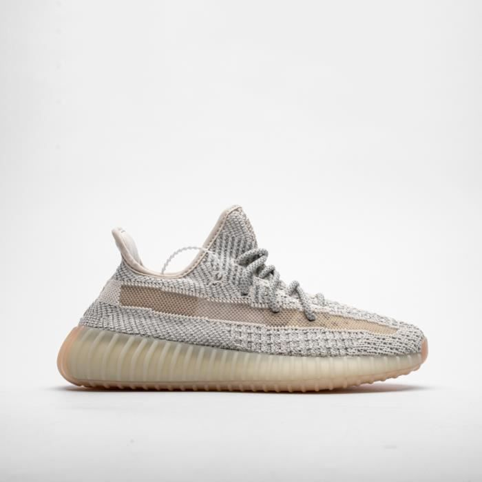 Basket Yezzy BOOST 350 V2 -Lundmark- Reflective FV3254 Chaussures de Running Homme Femme - Blanc