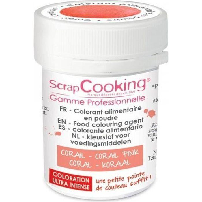ScrapCooking - Colorant alimentaire en poudre corail