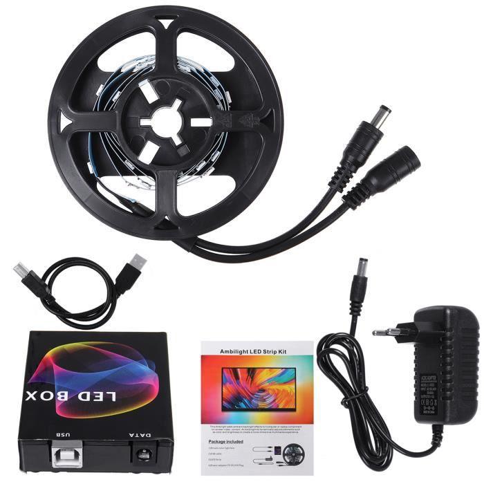 TEMPSA TV Ruban LED 1m 30LEDs USB Bande HDTV-PC Monitor avec Télécommande LED Box