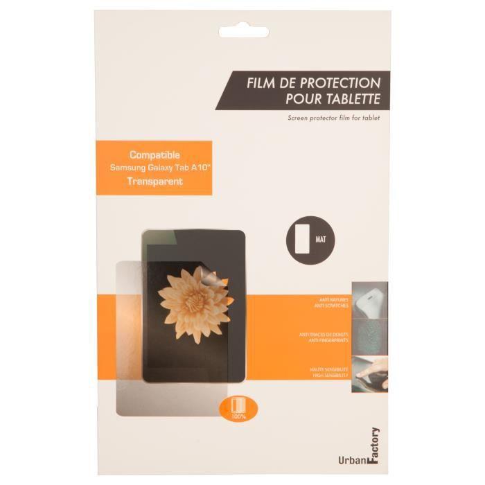 URBAN FACTORY Protection écran FPT03UF - Samsung, Galaxy Tab A - Résistant aux rayures - Transparent