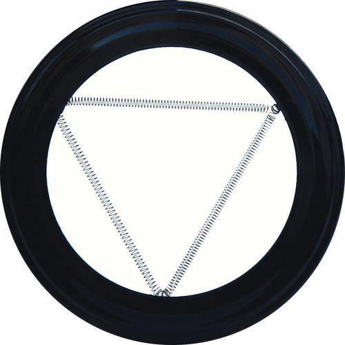 Rosace de couleur noire pour poêle 100 mm
