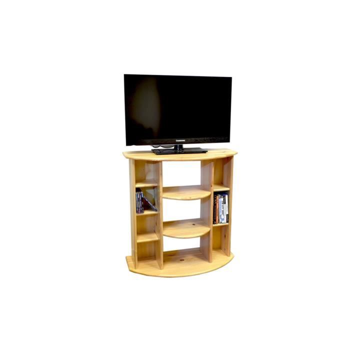 meuble tv hifi bois achat vente meuble tv meuble tv hifi bois cdiscount. Black Bedroom Furniture Sets. Home Design Ideas