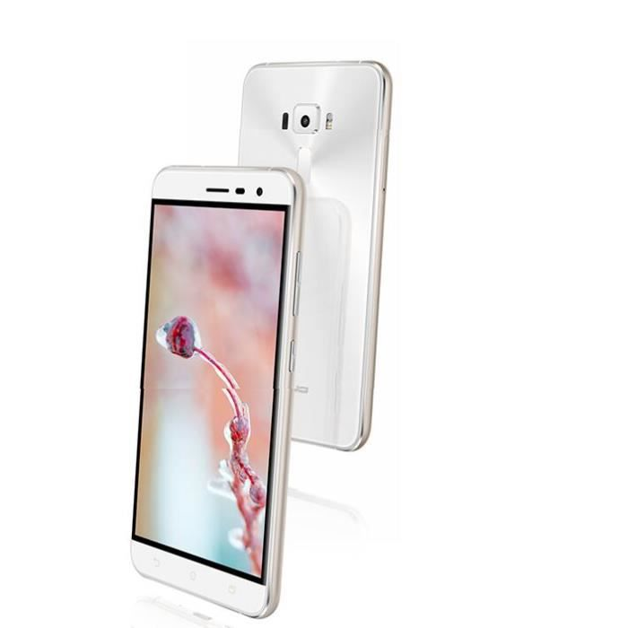 asus asus zenfone 3 ze552kl 4g 64go blanc 4go ram. Black Bedroom Furniture Sets. Home Design Ideas