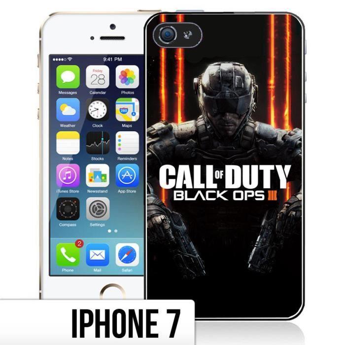Coque iPhone 7 Call of Duty Black Ops 3 - Logo - Cdiscount Téléphonie