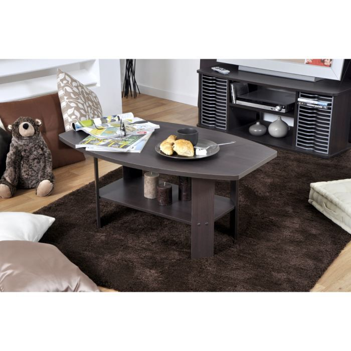 Home table basse d cor wengu achat vente table basse home table basse we - Table basse interiors ...