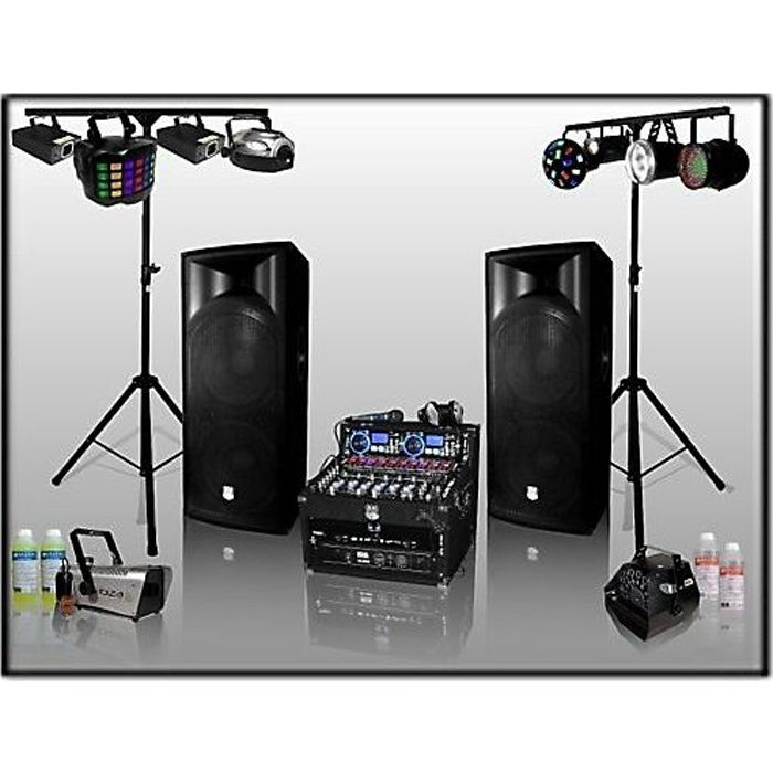 pack sono dj 1600 w avec jeux de lumi re et effets pack. Black Bedroom Furniture Sets. Home Design Ideas