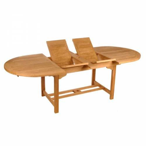 table ovale allonge papillon diam 200 300 cm m achat vente table de jardin table ovale. Black Bedroom Furniture Sets. Home Design Ideas