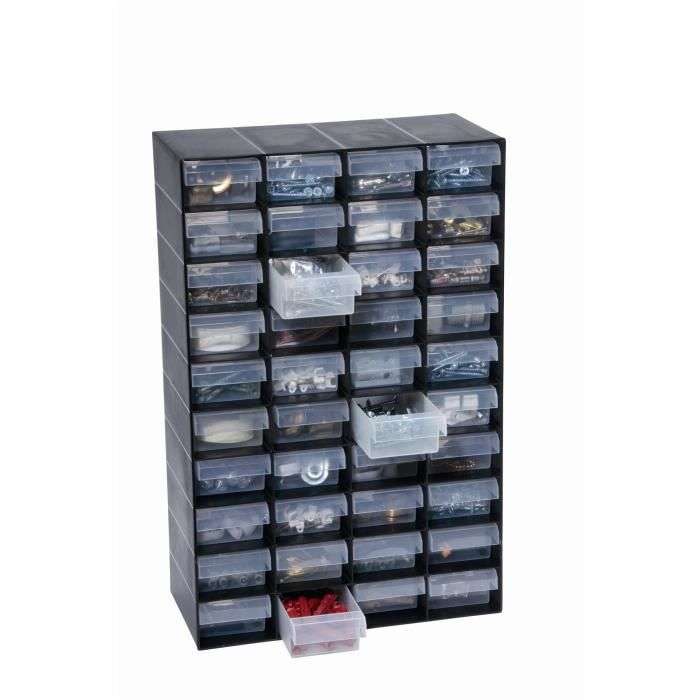 armoire de rangement en plastique a 40 tiroirs pour le. Black Bedroom Furniture Sets. Home Design Ideas