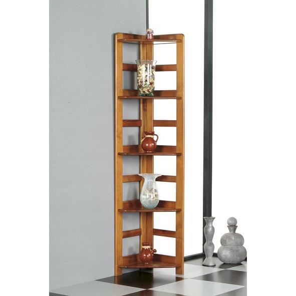 Etag re d 39 angle 6 tablettes achat vente meuble tag re for Etagere angle salon