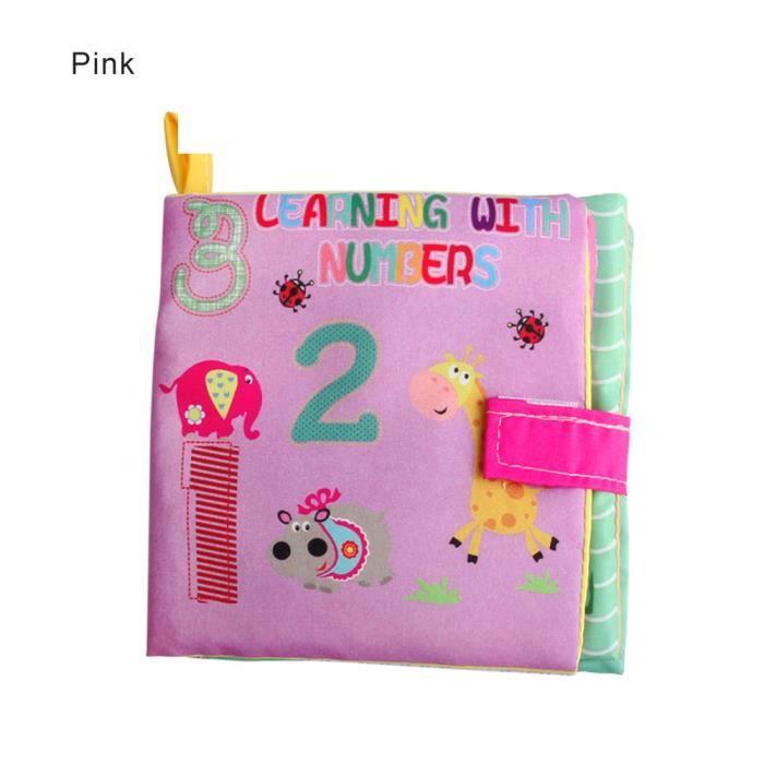 Livre D Eveil Bebe Education Precoce Puzzle Tissu Livre Enfants Jouets En Trois Dimensions Alphabetisation De Tissu Rose