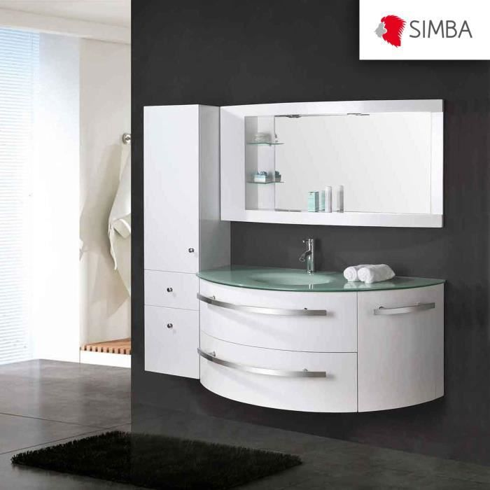 meuble salle de bain 120 cm blanc colonne vasque robinett ambassador ensemble comme dans la. Black Bedroom Furniture Sets. Home Design Ideas