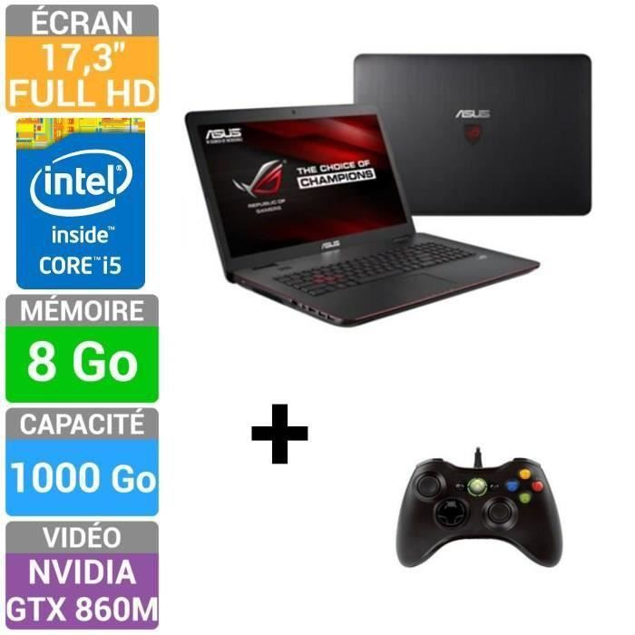 asus rog pc portable gamer g741jm t4047h manette achat. Black Bedroom Furniture Sets. Home Design Ideas
