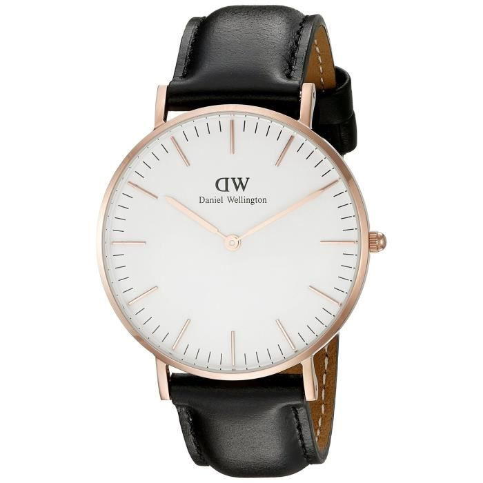 montre daniel wellington classic sheffield femme montre quartz noir blanc gold 36mm 0508dw. Black Bedroom Furniture Sets. Home Design Ideas
