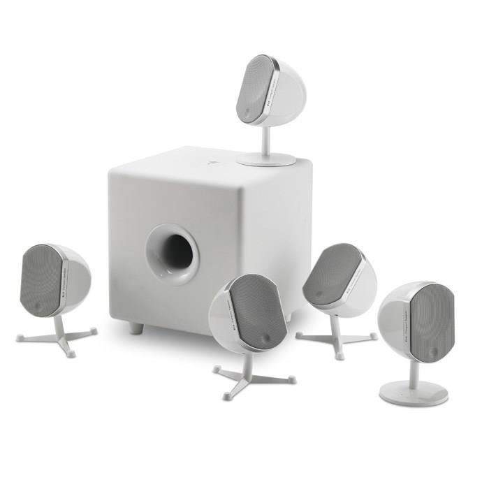 Focal little bird 5 1 home cin ma blanc achat vente ensemble home cin ma - Home cinema 2 1 blanc ...