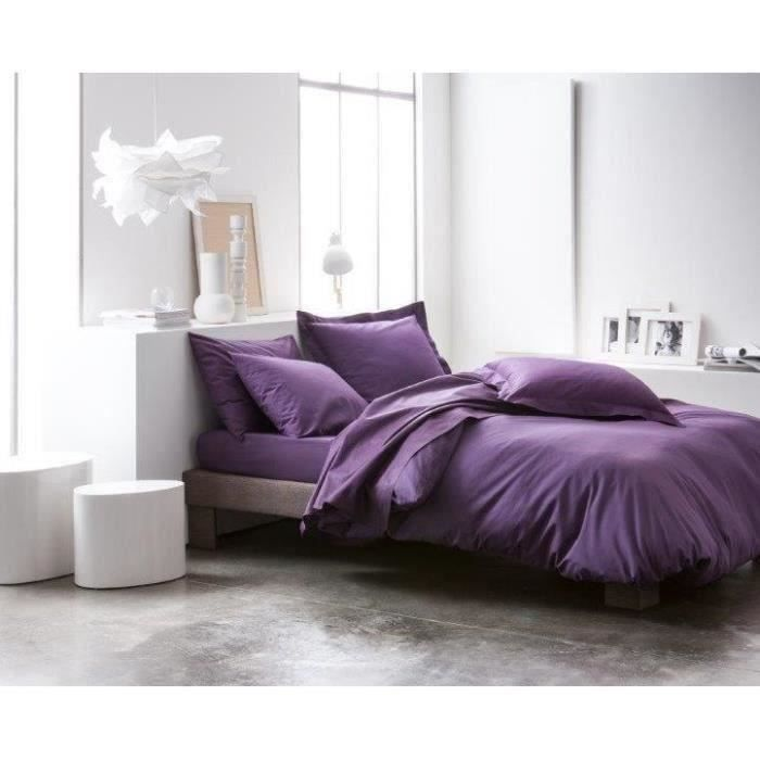 today housse de couette 100 coton 220x240cm deep purple. Black Bedroom Furniture Sets. Home Design Ideas