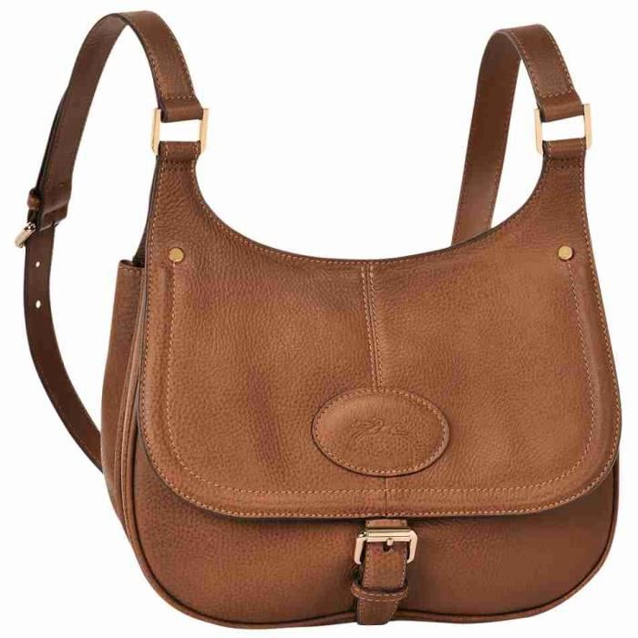 LONGCHAMP - sac femme à bandoulière en cuir - COGNAC MYSTERY ...