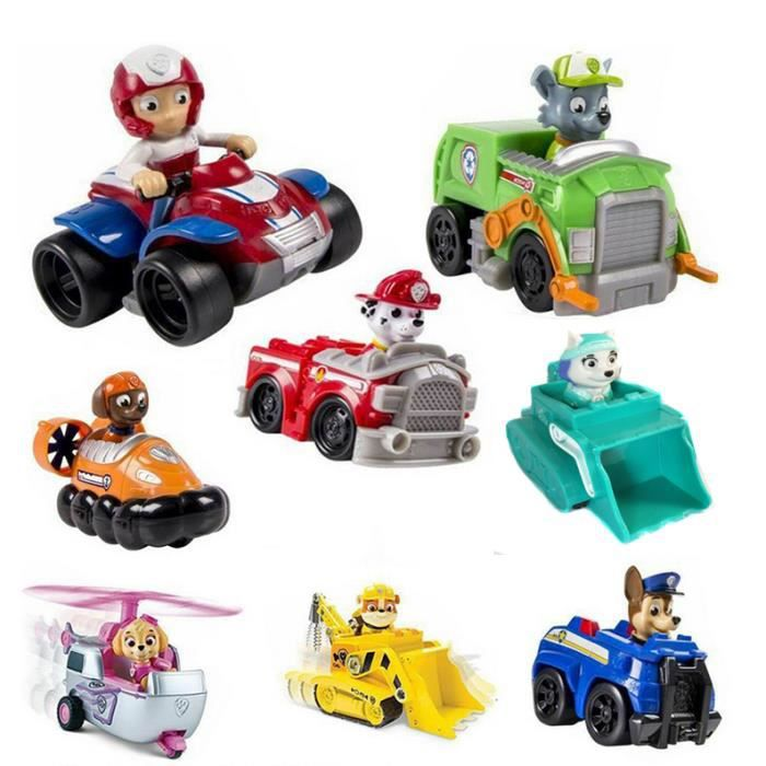 lot de 8 paw patrol jouets de v hicules set achat vente figurine personnage cdiscount. Black Bedroom Furniture Sets. Home Design Ideas