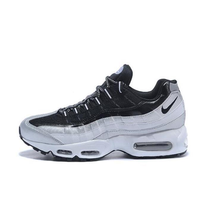 Basket Nike Air Max 95 Chaussures De Course Homme Blanc Noir ...