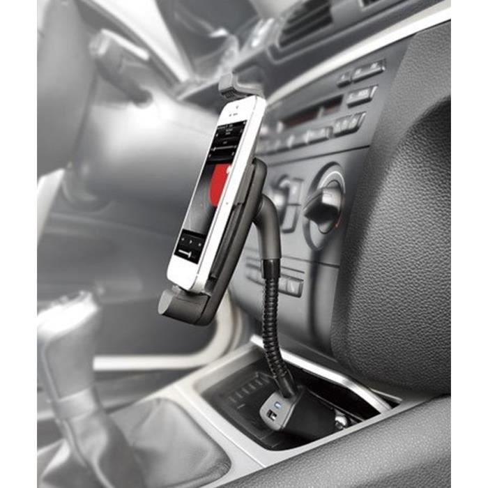 Support Voiture Allume Cigare 2 en 1 pour SAMSUNG Galaxy Core Prime Smartphone Android Micro USB Reg