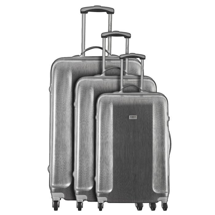 torrente set 3 valises trolley 4 roues homere argent achat vente set de valises torrente 3. Black Bedroom Furniture Sets. Home Design Ideas