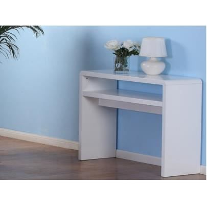 console arsine mdf laqu blanc achat vente console. Black Bedroom Furniture Sets. Home Design Ideas