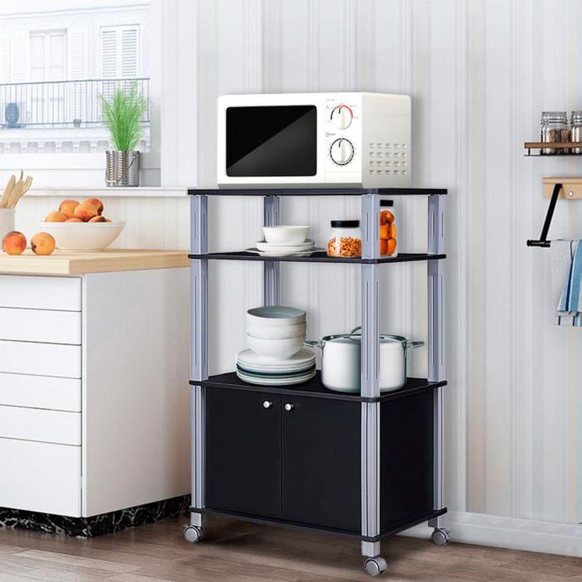 Etagere Dessus Micro Onde meuble pour micro onde Étagère de cuisine pour four en bois