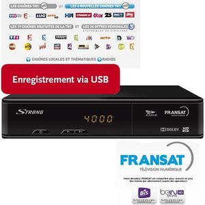STRONG SRT 7405 Décodeur TNT HD satellite FRANSAT HD
