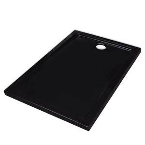 RECEVEUR DE DOUCHE Receveur de douche ABS rectangulaire noir #N23489