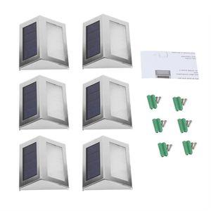 LAMPE DE JARDIN  6PCS lumière de nuit à capteur solaire LED Lampe p