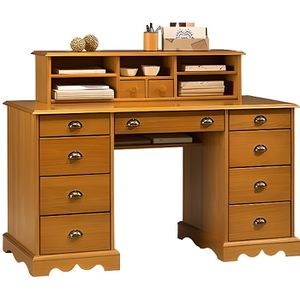 bureau en pin achat vente bureau en pin pas cher cdiscount. Black Bedroom Furniture Sets. Home Design Ideas