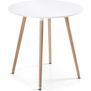 TABLE À MANGER SEULE Table à manger ronde design blanche 100cm - Alta