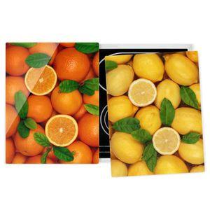 PLAQUE INDUCTION Couvre plaque de cuisson - Citrus Fruits - 52x80cm