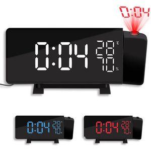 Radio réveil Radio Réveil à Projection FM TS-5210, Horloge Numé