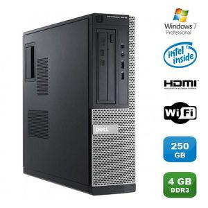 UNITÉ CENTRALE  PC DELL Optiplex 3010 DT Intel G640 2.8Ghz 4Go 250