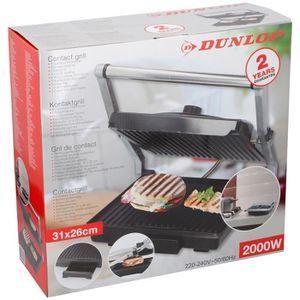GRILL ÉLECTRIQUE Dunlop - 06140 - Grill viande et panini multifonct