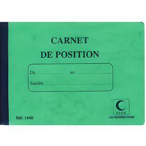 Manifold Elve livre de compte 'carnet de position', 110 …