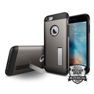 COQUE - BUMPER Spigen Slim Armor Coque pour Apple Iphone 6/6s Gri