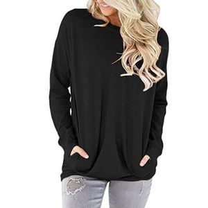 PULL Pull Femmes Col Rond Manches Longues Couleur Unie 670086551717