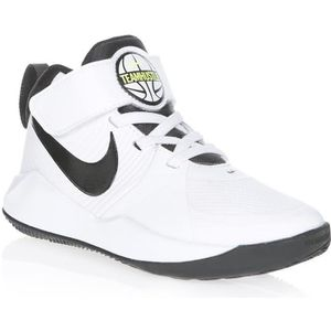 BASKET MULTISPORT NIKE Baskets Team Hustle D 9 - Enfant - Blanc et N