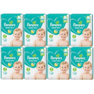 COUCHE  Pampers Baby Dry Taille 7 Extra Large 15+kg Sparp