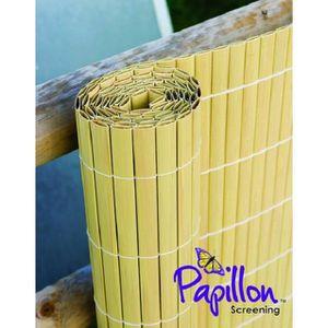 HAIE DE JARDIN Canisse Haie Artificielle - Canne de Bambou 4m x 1
