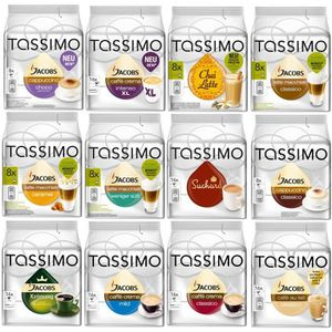 CAFÉ Tassimo Cafe Set 144 Dosettes 12 variétés