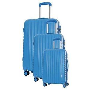SET DE VALISES TRAVEL ONE Set de 3 Valises 8 roues S/M/L Bleu Hil