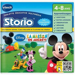 JEU CONSOLE EDUCATIVE VTECH Jeu Educatif Storio  La Maison De Mickey