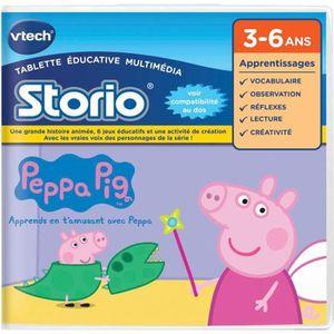 JEU CONSOLE ÉDUCATIVE VTECH Jeu Storio - Peppa Pig