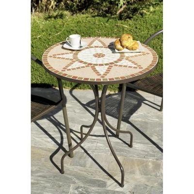 VARESE-60 - Table ronde ø 60cm Couleur mosaique… - Achat ...