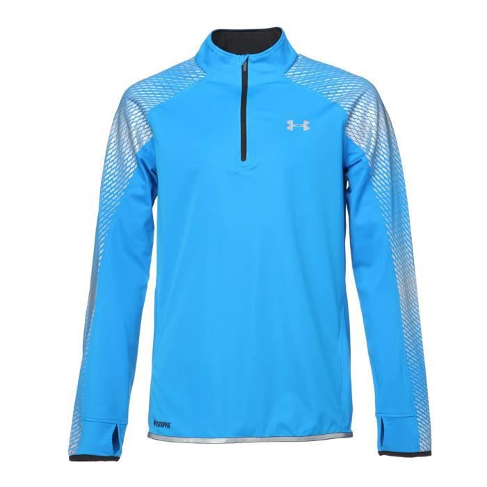 UNDER ARMOUR Sweatshirt Running Zippé Windstopper Homme - Bleu