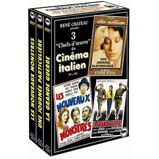 dvd coffret cin ma italien une journ e partic en dvd film pas cher scola ettore monicelli. Black Bedroom Furniture Sets. Home Design Ideas