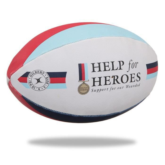 GILBERT Ballon de rugby SUPPORTER - Help the HerŒs - Taille 5
