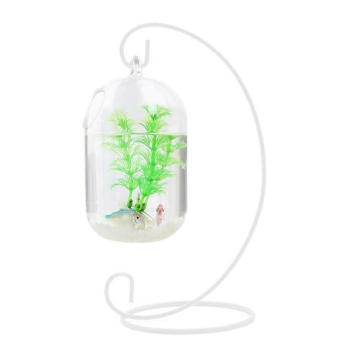 Suspendu 15 cm clair Transparent Aquarium réservoir fleur Vase poisson bol succulentes bouteille suspendue pour la maison